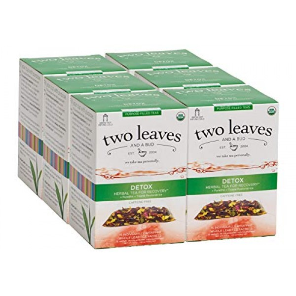 Two Leaves and a Bud Organic Detox Herbal Tea Bags for Recovery,...