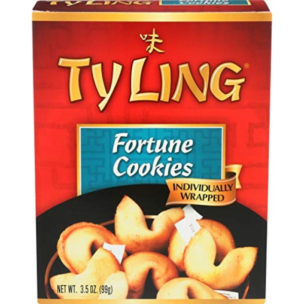 Ty Ling Fortune Cookies, 3.5-Ounce Box Pack of 12