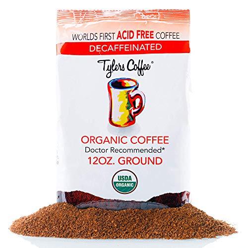 Tyler's No Acid Organic Ground Coffee - 100% Arabica Full Flavor...