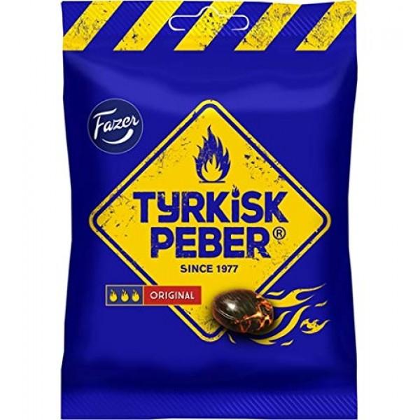 4 x bags of 150g Fazer The Original Tyrkisk Peber Turkish Peppe...