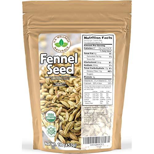 Fennel Seed 1LB 16Oz 100% CERTIFIED Organic Egyptian Fennel Se...