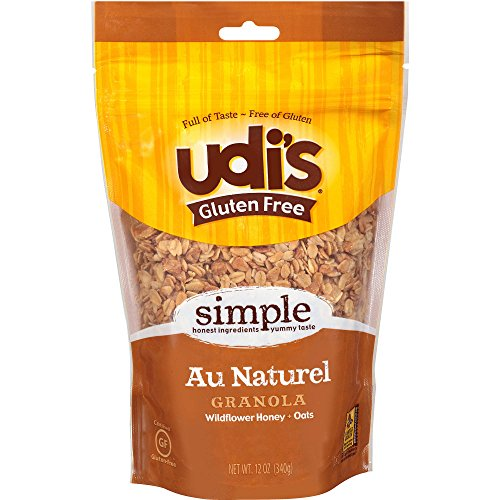 Udis Gluten Free Au Natural Granola, Pack of 6, 12 Oz