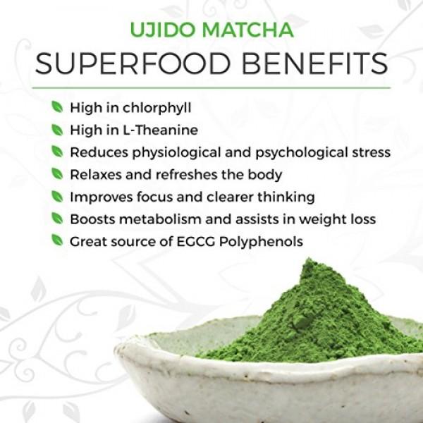 Ujido Japanese Roasted Matcha Green Tea Powder, 2 Ounce