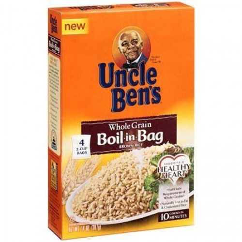 Uncle Bens, Whole Grain, Boil-In-Bag, Brown Rice, 4 Count, 14oz...