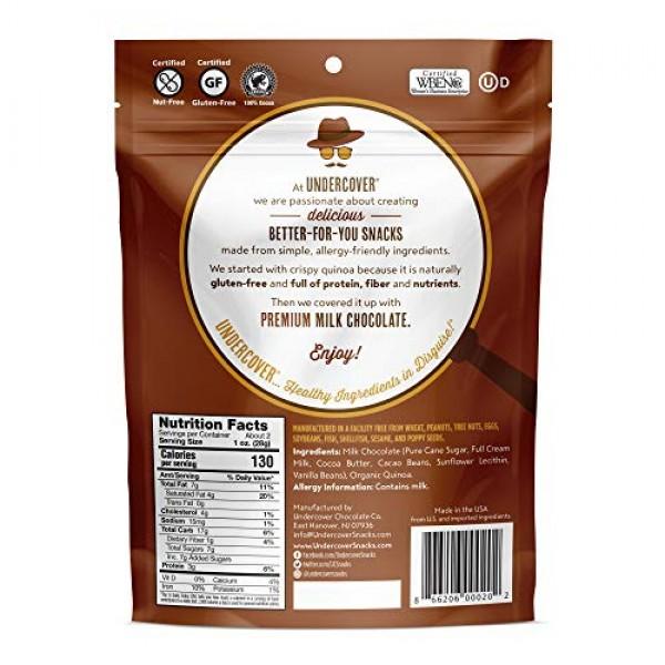 UNDERCOVER Quinoa - Chocolate Crispy Quinoa Snack - Milk Chocola...