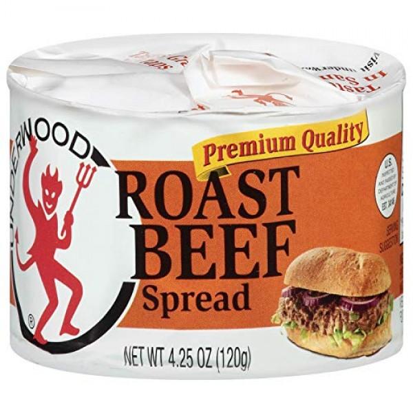 Underwood Roast Beef Spread, 4.25 Ounce Pack of 24
