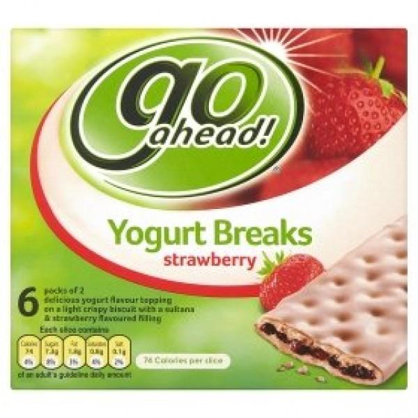 Go Ahead Yogurt Breaks Strawberry 6 Pack 210G