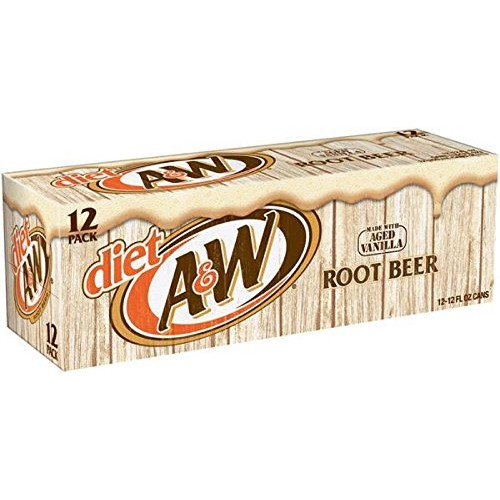 A&W Root Beer Diet, 12 oz Can Pack of 24