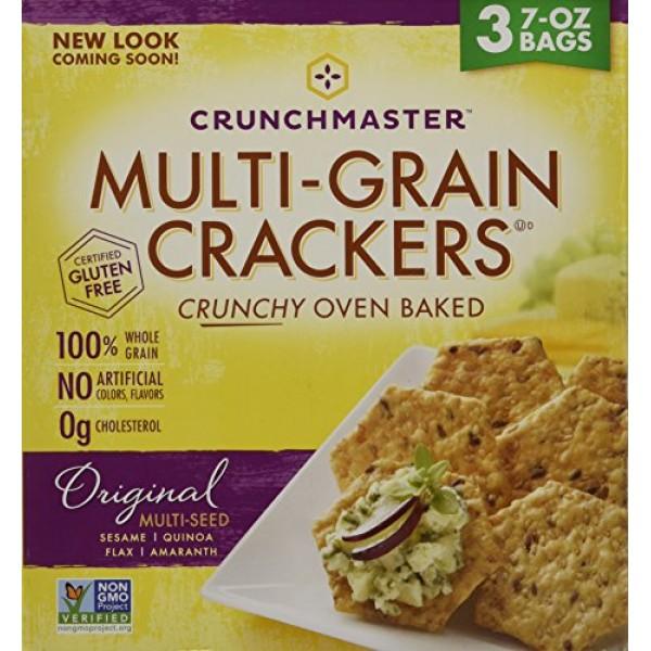 Crunchmaster Multi-Grain Crackers, 3 pk./7 oz. 1 BOX