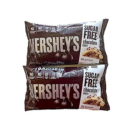 Hersheys Sugar Free Chocolate Chips - Special Edition Pack of 2...