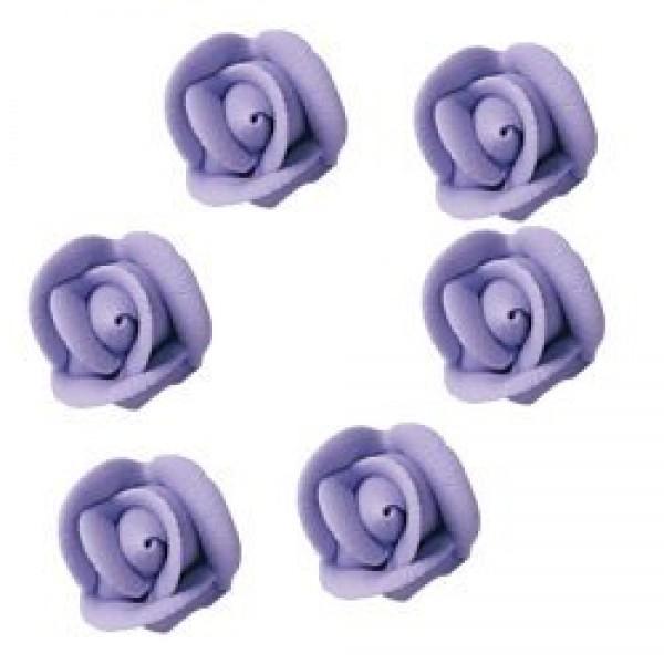Small Lavender Royal Icing Roses