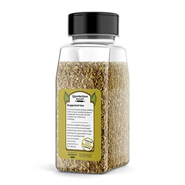 Dried Oregano Leaf Flakes, 1/2 Cup by Unpretentious Baker, Rich ...
