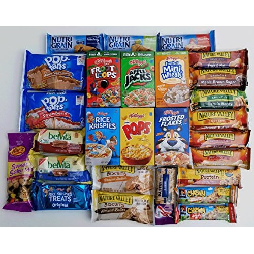 Grab N Go Breakfast Variety Pack - Ultimate Snack Gift Box for ...