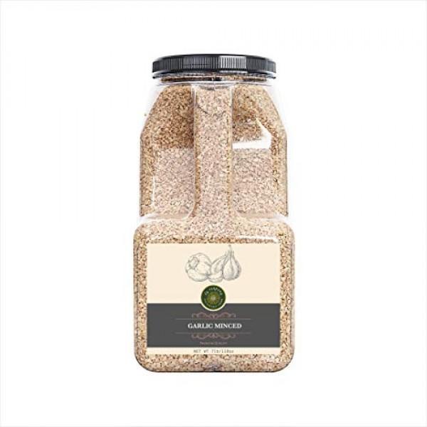 US-FARMERS Natural Premium Quality Garlic Minced in Jar, 7 Lbs