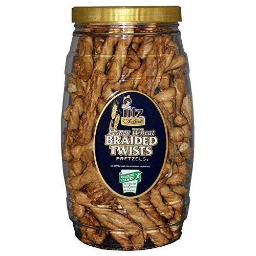 Utz Honey Wheat Braided Pretzel Twists – 26 oz Barrel – Sweet Ho...