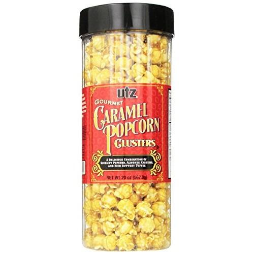 Utz Gourmet Popcorn Clusters, Caramel Nut Clusters - 19 oz. Barr...
