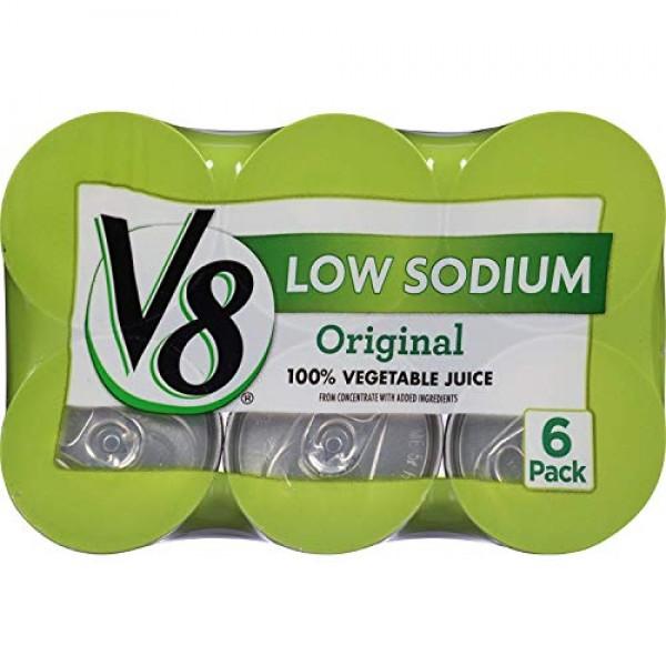 V8 100% Vegetable Juice Low Sodium 5.5 oz Pack of 6