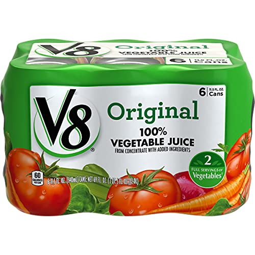 V8 Original 100% Vegetable Juice, 11.5 oz. Can 4 packs of 6, To...