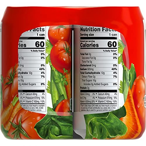 V8 Spicy Hot 100% Vegetable Juice, 11.5 oz. Can 4 packs of 6, T...