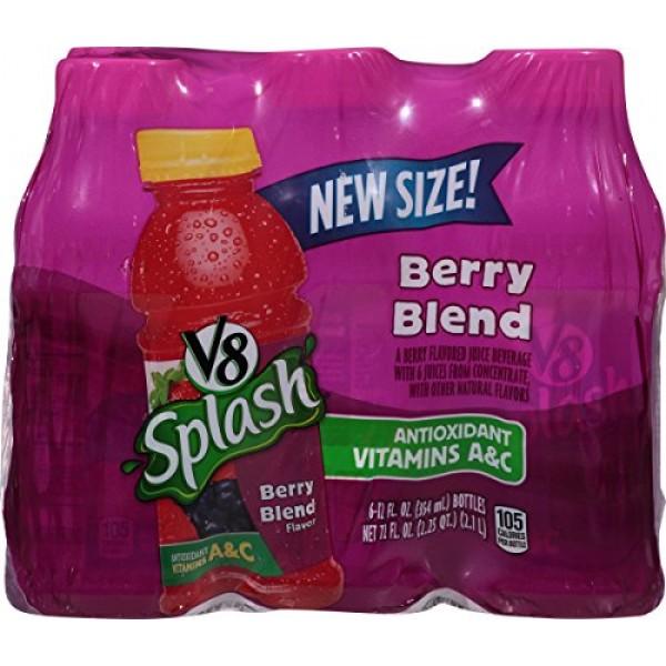 V8 Splash Berry Blend, 12 oz. Bottle 2 packs of 6, Total of 12