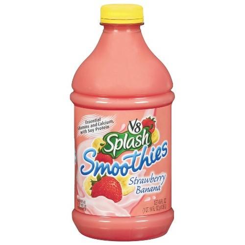 V8 Splash Smoothie, Strawberry & Banana, 46-Fl Oz Bottles Pack ...