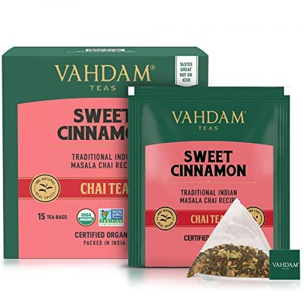 VAHDAM, Hot Cinnamon Tea | 30 Tea Bags Set of 2 | 100% Natural...