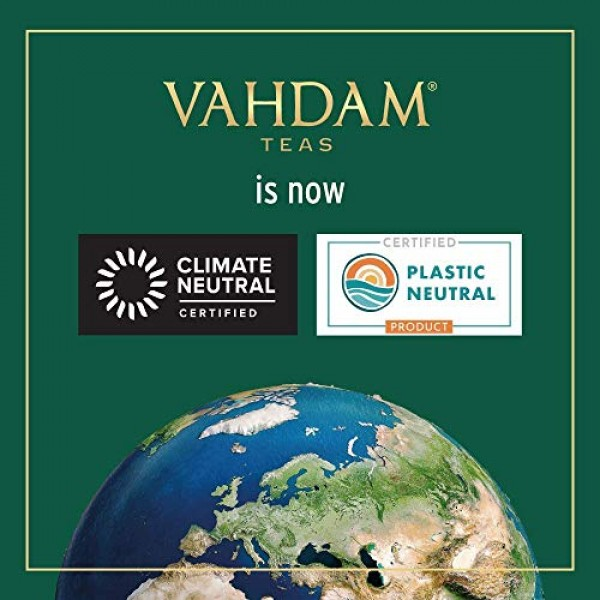 VAHDAM, Kashmiri Kahwa Tea Loose Leaf 50 Cups | 100% NATURAL ...