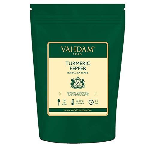VAHDAM, Turmeric Pepper Spice Chai Tea 100 Cups | Indias Anci...