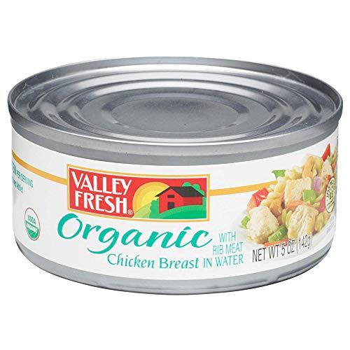 Valley Fresh Organic Canned Chicken Breast with Rib Meat in Wate...
