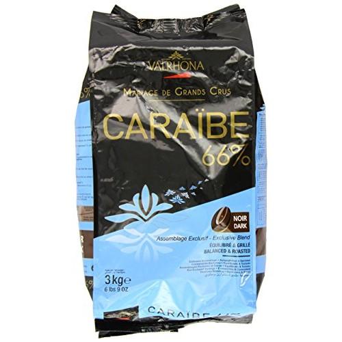 Valrhona Dark Chocolate - 66% Cacao - Caraibe - 6 lbs 9 oz bag o...