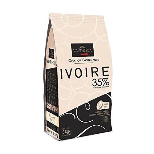 Valrhona White Chocolate Couverture Ivoire 35% cocoa 43% sugar 4...
