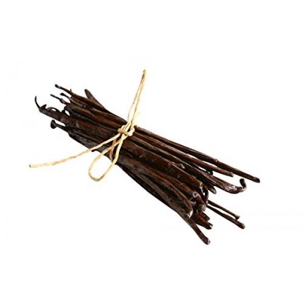 5 Madagascar Vanilla Beans - Whole Extract Grade B Pods for Baki...