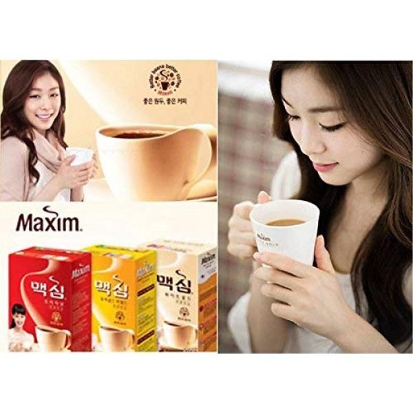 Korean Maxim White Gold/Mocha Gold Mild/Original Instant Coffee ...