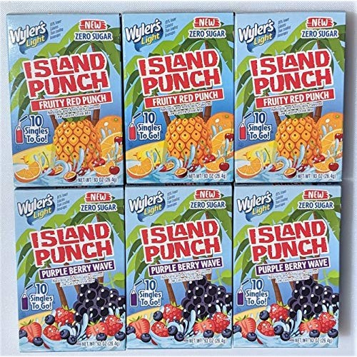 Wylers Light Island Punch Variety Pack - 6 boxes total - 3 boxe...