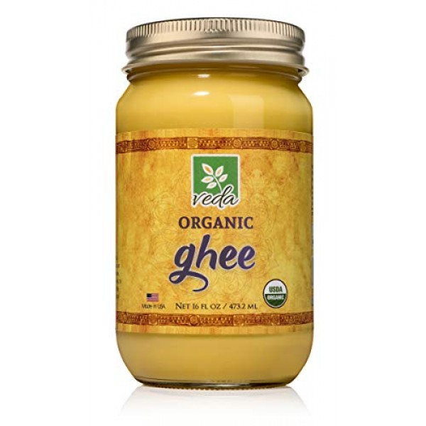 Organic Grass Fed Keto Ghee Clarified Butter - Keto Friendly Non...