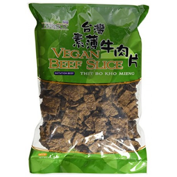 7 oz. Vsoy Meatless, Vegan Soy Textured BEEF SLICE, Soy Protein ...