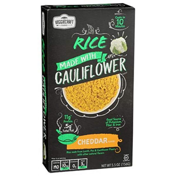 Veggiecraft Farms, Cauliflower Rice Cheddar, 5.5 Ounce