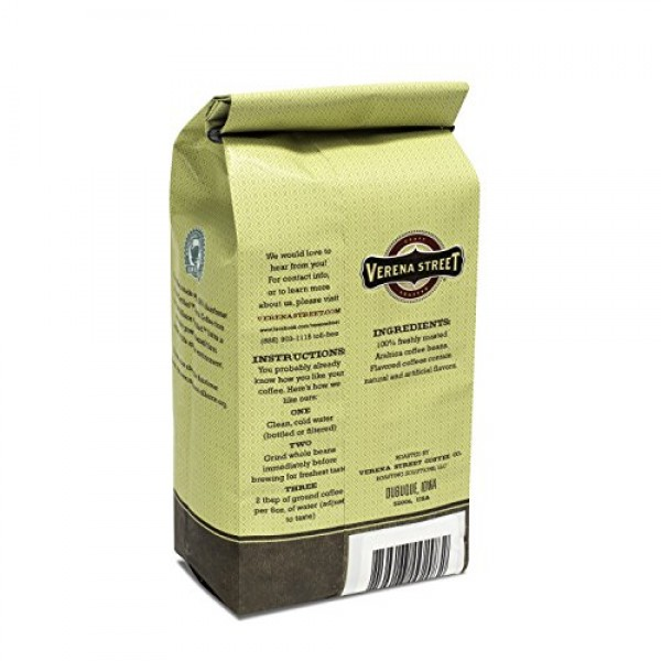 Verena Street 12 Ounce Whole Bean Coffee, Light Medium Roast, Lo...