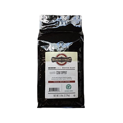 Verena Street 5 Pound Flavored Whole Bean Coffee, Cow Tipper, Me...