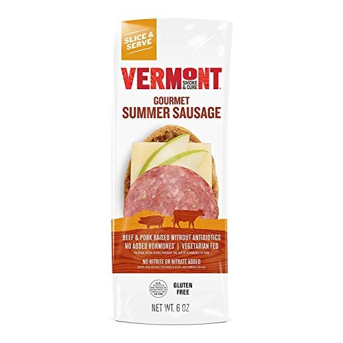 Vermont Smoke & Cure - Summer Sausage - Antibiotic Free and Glut...