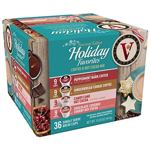 Victor Allen Coffee Holiday Favorites Coffee & Cocoa Mix, 36 Cou...