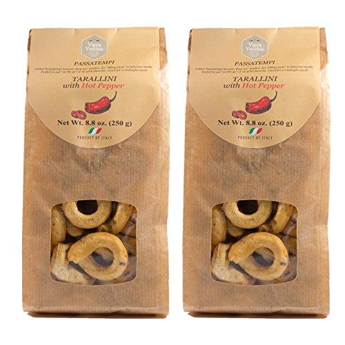 Vigne Vecchie Tarallini with hot pepper 8.8 oz. 2 pack