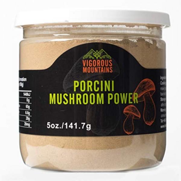 VIGOROUS MOUNTAINS Dried Porcini Mushrooms Powder 5 OZ