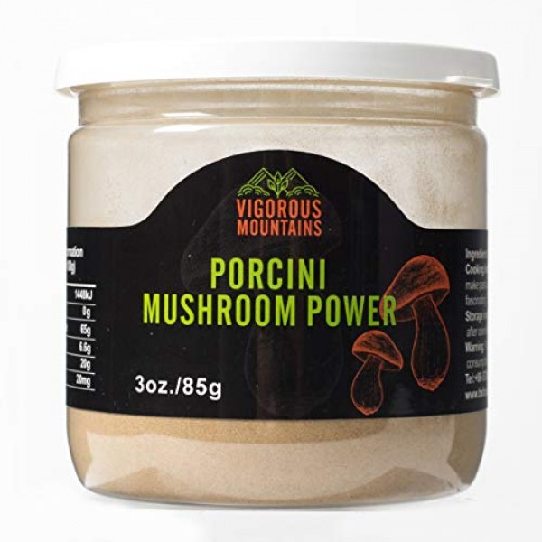 VIGOROUS MOUNTAINS Dried Porcini Mushrooms Powder 3 OZ