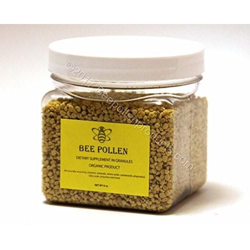 BEE POLLEN Pure Organic Bee Pollen Granules 6 oz FDA Certified