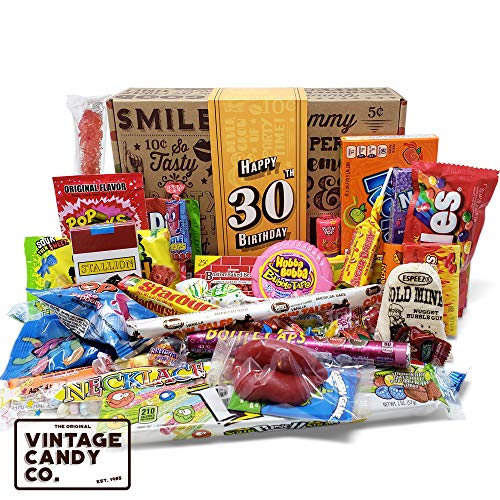 VINTAGE CANDY CO. 30TH BIRTHDAY RETRO CANDY GIFT BOX - 1988 Deca...