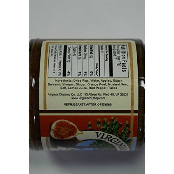 Fig Chutney -2 PACK- All Natural Virginia Chutney Co. Balsamic F...