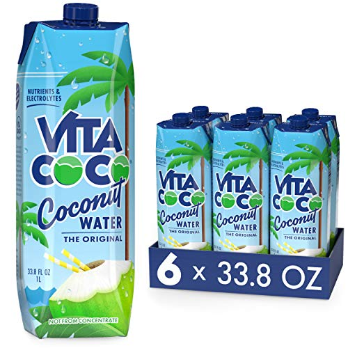 Vita Coco Coconut Water, Pure - Naturally Hydrating Electrolyte ...