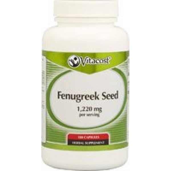 Vitacost Fenugreek Seed -- 1220 mg per serving - 180 Capsules