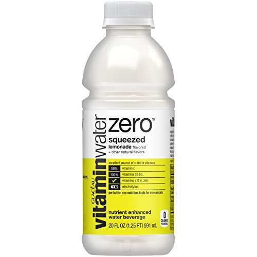 vitaminwater zero Squeezed, 20 fl oz, 24 Pack